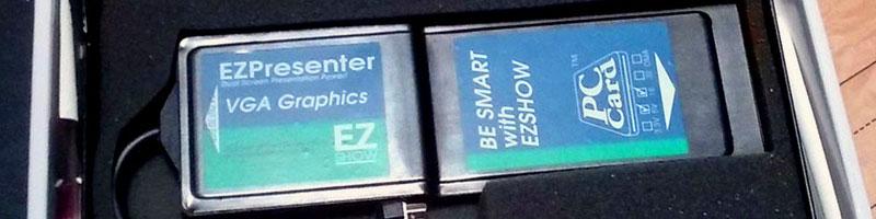EZ Presenter (EZ2VGA) PCMCIA card – VGA out for Newton